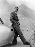 "Sean Connery. ""007, James Bond: Goldfinger"" 1964, ""Goldfinger"" Regie Guy Hamilton Bedruckte aufgespannte Leinwand"