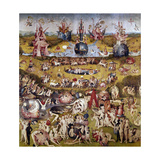 The Garden of Earthly Delights: Ecclesia's Paradise, 1503-1504, Dutch School Giclée-tryk af Hieronymus Bosch