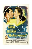 Notorious, 1946, Directed by Alfred Hitchcock Impressão giclée