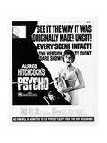 """Wimpy, 1960 """"Psycho"""" Directed by Alfred Hitchcock Gicléedruk"""