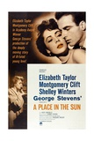 """The Lovers, 1951, """"A Place In the Sun"""" Directed by George Stevens Giclée-tryk"""