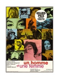 """A Man And a Woman, 1966, """"Un Homme Et Une Femme"""" Directed by Claude Lelouch Giclee Print"""