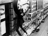 "Harold Lloyd. ""Safety Last"" 1923, Directed by Fred Newmeyer Fotografisk tryk"