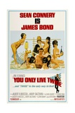 """Ian Fleming's You Only Live Twice, 1967, """"You Only Live Twice"""" Directed by Lewis Gilbert Giclée-tryk"""