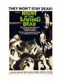 """Night of the Living Dead"" Directed by George A. Romero Gicléedruk"