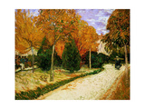 'Autumnal Garden' or 'The Public Park', 1888 Giclee Print by Vincent van Gogh