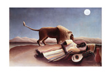 The Sleeping Gypsy, 1897 Giclee-trykk av Henri Rousseau