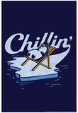 Chillin' Penguin Snorg Tees Poster Plakater