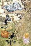 Alice in Wonderland Cheshire Cat Art Print Poster Pôsteres