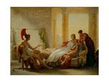 "Aeneas And Dido ""Sketch"" Gicléedruk van Pierre-narcisse Guerin"