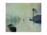 """Lacroix Island """"The Effect of Fog"""" 1888 Reproduction procédé giclée par Camille Pissarro"""