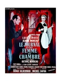 """Diary of a Chambermaid, 1964, """"Le Journal D'une Femme De Chambre"""" Directed by Luis Buñuel Giclée-tryk"""