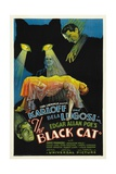 """The House of Doom, 1934, """"The Black Cat"""" Directed by Edgar Ulmer Reproduction procédé giclée"""