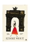 Roman Holiday, 1953, Directed by William Wyler Impressão giclée