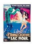 """Black Lagoon, 1954, """"Creature From the Black Lagoon"""" Directed by Jack Arnold Giclee-trykk"""