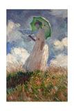 The Woman With a Parasol, 1886 Giclée-Druck von Claude Monet