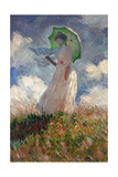 The Woman With a Parasol, 1886 Giclee Print by Claude Monet