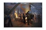 """The Iron Foundry"" Burmeister & Wain, 1885 Giclée-tryk af Peder Severin Kröyer"