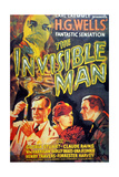 The Invisible Man, 1933, Directed by James Whale ジクレープリント
