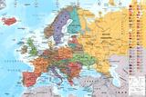 European Map Educational Poster Plakater