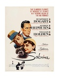 Sabrina, Audrey Hepburn, Directed by Billy Wilder, 1954 Giclée-tryk