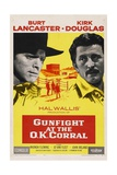 Gunfight At the O. K. Corral, 1957, Directed by John Sturges Impressão giclée