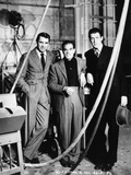 """Cary Grant, Frank Capra, James Stewart. """"The Philadelphia Story"""" 1940, Directed by George Cukor Reproduction photographique"""