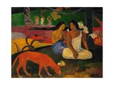 Arearea Or Jokes, 1892 Impressão giclée por Paul Gauguin