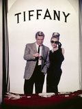 "Audrey Hepburn, George Peppard. ""Breakfast At Tiffany's"" 1961, Directed by Blake Edwards Stampa fotografica"