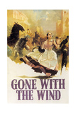 Gone With the Wind, 1939, Directed by George Cukor, Victor Fleming Reproduction procédé giclée