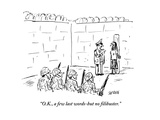 """""""O.K., a few last words-but no filibuster."""" - Cartoon Giclee Print by David Sipress"""