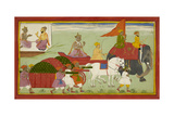 Dasaratha Sets Out For Anga Giclée-tryk