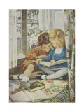 Young Boy and Girl Reproduction giclée Premium par Jessie Willcox-Smith