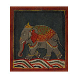 Painting Of a Caparisoned Elephant Giclée-tryk