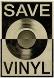 Save the Vinyl Music Poster Plakater