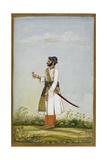 Portrait Of Maharav Raja Bakhtavar Singh Of Alwar (R.1790-1815) Giclée-tryk