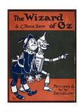Illustrated Front Cover For the Novel 'The Wizard Of Oz' With the Scarecrow and the Tinman Reproduction procédé giclée par William Denslow