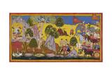 Ramayana Ayodhya Kanda Giclée-tryk