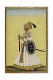 Portrait Of Maharaja Ratan Singh Of Bikaner (R.1831-1852) Giclée-tryk