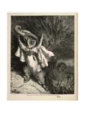 Katten med støvlene Giclee-trykk av Gustave Doré