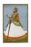 Portrait Of Maharaja Jagat Singh Of Jaipur (R.1803-1818) Giclée-tryk