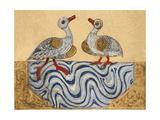 Goose and Duck Giclée-tryk af Aristotle ibn Bakhtishu