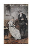Front Cover To the Novel, 'Pride and Prejudice' by Jane Austen Impressão giclée
