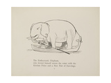 Elephant in Row Boat From a Collection Of Poems and Songs by Edward Lear Giclée-tryk af Lear, Edward