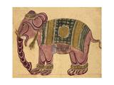 Elephant Wearing a Caparison Giclée-tryk af Aristotle ibn Bakhtishu