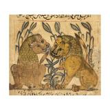 Two Lions Giclée-tryk af Aristotle ibn Bakhtishu