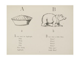 Apple-pie and Bear Illustrations and Verse From Nonsense Alphabets by Edward Lear. Giclée-tryk af Lear, Edward