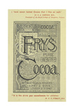 Advertisement For Fry's Cocoa Giclee Print by Isabella Beeton