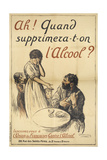 A French Poster On the Subject Of Alcohol Abuse Lámina giclée