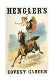 Convent Garden, London. Hengler's Grand Cirque, C.,1888. Woman Dancing On Horseback Giclée-Druck von Henry Evanion